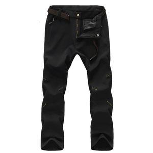 Pantaloni invernali invernali impermeabili uomini pantaloni invernali, pantaloni softshell all'aperto, pantaloni da trekking trekking escursionismo maschile