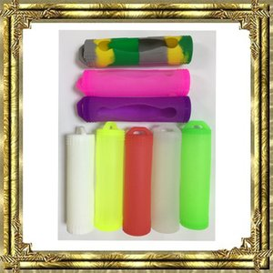 Cubierta de batería de goma de la manga 18650 de colores Cubierta de bolsa de silicona de protección única abeja 18650 frente a 18650 caja de batería de plástico titular de la caja
