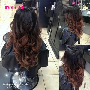 Loose Wave Ombre U Parte Pelucas Pelucas de cabello humano Virgen india Remy Hair Glueless Peluca en forma de U del cabello humano