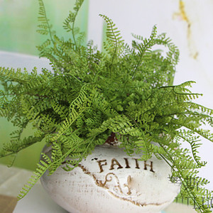 Bellezza Fern Fake Plant Artificiale Floral Leaves Foliage Home Office Decoration Drop Shipping Bunch all'ingrosso