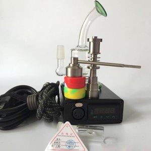 Ti Tırnak Ti caeb cap Cam Bong Elektronik Sıcaklık Kontrol Kutusu kiti Için DIY Içen Balmumu Kuru Ot pieps cam bong