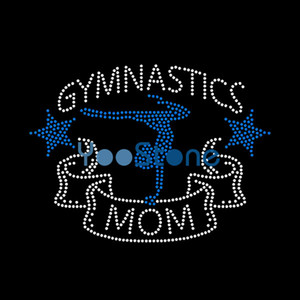 Wholesale China Cheap Price Gymnastics Mom Rhinestone Iron On Transfers Hotfix Motif