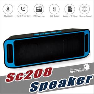 SC208 Sans Fil Bluetooth Haut-parleurs sans fil mini haut-parleur portable musique Basse Son Subwoofer Haut-parleurs pour Iphone Smart téléphone et Tablet PC