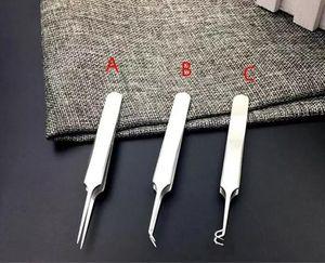 Pro acné aiguille en acier inoxydable clip Blackhead Remover Whitehead aiguille Kit Blemish Pimple extracteur Outils de maquillage