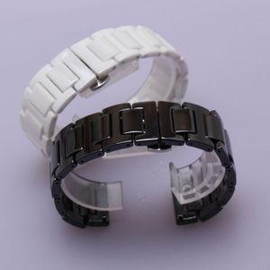 nuevo 20mm 22mm Correa de reloj de cerámica para Samsung Gear S2 S3 Classic R732 R735 Moto 360 2 Gen 42mm Hombres 2015 Reloj inteligente Pulsera de eslabones de correa de enlace