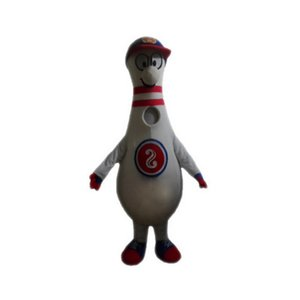 Bowling bottle Mascot Costumes Cartoon Character Adult Sz 100% Real Picture