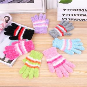 Женские супер мягкое перо зима плюшевые волшебные перчатки трикотажные конфеты цветные варежки для Леди 24 пар/лот Бесплатная доставка