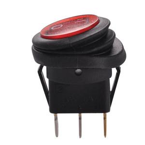 ZOOKOTO LED 둥근 단추 12V 20A 3 핀 온 / 오프 로커 스위치 방수 자동 보트 SPST 5 PC 파랑 / 빨강