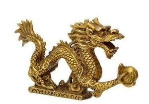 Atacado Barato Chinês estátua de Bronze estatueta de Dragão decoração