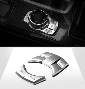 BMW X1X3X4X5X6 1 2 3 5 serisi 3GT Krom ABS Araç şekillendirme için Multimedya Düğmeleri Pullarda dekorasyon kapak Döşeme 5adet