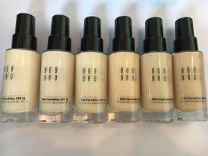 Bobi braune Haut Foundation 30ML Bobi flüssige Foundation Concealer Make-up lang-tragen sogar Finish Foundation 6color mischen