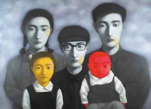Livraison gratuite, beaucoup de gros, z050 #, 100% artisanat Art peinture à l'huile portrait par Zhang Xiaogang, toute taille personnalisée acceptée
