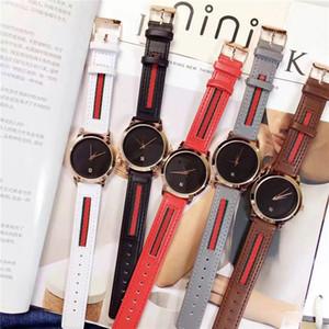 Yüksek Kalite Lady kadınlar saatler Elbise Renkli Gerçek Deri Moda Bilezik Kuvars Otomatik Tarih dişi saat ücretsiz nakliye izlemek saatler