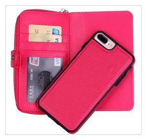 Для Iphone 7 6S 6plus Многофункциональный 2 в 1 Магнит Съемные Съемная крышка молнии кожаный бумажник телефона чехол для iphone6 S7 края 7plus