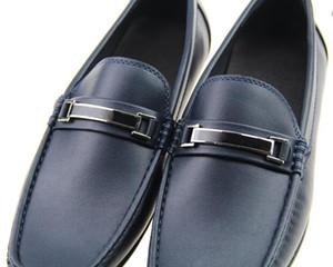 Top Calidad Real Cuero Cuero Cuero Casual Shoe Lux Diseñador Oxford Mocassin Vestido Zapatos Zapatos Hombre 40-46
