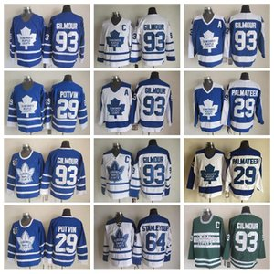 Best 93 Doug Gilmour Maglie Uomini Toronto Maple Leafs 64 Stanleycup 29 Felix Potvin 29 Mike Palmateer Hockey Vintage Classic