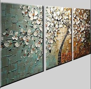 3 PC / 1 conjunto Modern Abstract Enorme Arte Pintura A Óleo da parede decorar Canvas (sem moldura)
