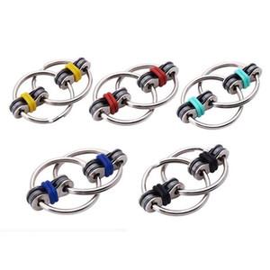 Neueste Schlüsselring-Kette Fidget Ring Spielzeug Hand Spielzeug-Finger-Spinner für Autismus ADHS besseren Fokus Spielzeug