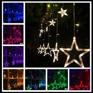 110 V / 220 V Led Dizeleri Flaş Yıldız Perde Işıkları Lamba Noel Düğün Bar Mağaza Açık / Kapalı Su Geçirmez Ev Dekorasyon Işıkları Lamba
