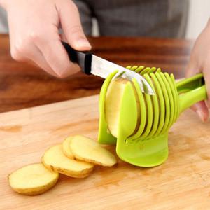 Tomato Potato Lemon Cucumber Fruit Vegetable Slicer Cutter Food Holder Home Kitchen Tools