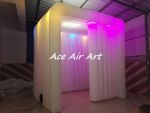 Neue photo booth gehäuse hochzeit party ereignis aufblasbare photo booth led streifen zum verkauf
