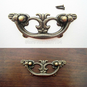 Wholesale- 6pcs Antique Brass Vintage Butterfly Shape Furniture Jewelry Chest Dresser Cabinet Drawer Handle Pull Knob 83x31mm