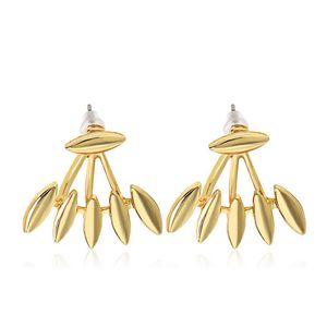 Rock Punk Spike Glatte Marquise Form Ohrstecker Ohrringe Für Frauen Partei Schmuck Gold Silber Überzogene Metall Ohr Jacke