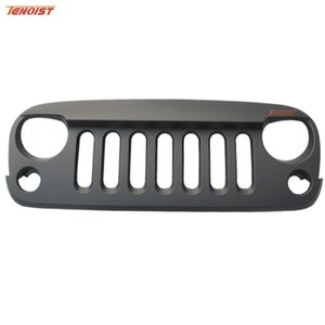 Hot Sale Car Styling High Strength ABS Front Racing grille trims Black For Jeep Wrangler JK 2007-2016
