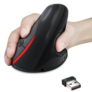 Laptop-neutrale tragbare Energiesparung 2.4G 2400DPI-Computer USB-WLAN-Aufladung Vertikale gesunde Maus 2955