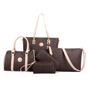 2017 conjuntos de sacos de composto 6 pcs saco de ombro único crossbody tote bolsas de grife de luxo bolsa padrão de seta