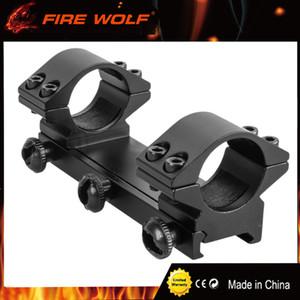 FIRE WOLF Anillos de 25,4 mm de perfil bajo de una pieza de montaje de una pieza y montaje doble Alcance de 20 mm Montaje de alcance de rifle de riel