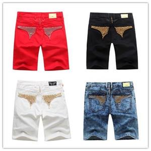 Atacado novo-Free estilista para Homens envio de verão Short Jeans Mens Pants Robin Jean Cowboy jeans curta