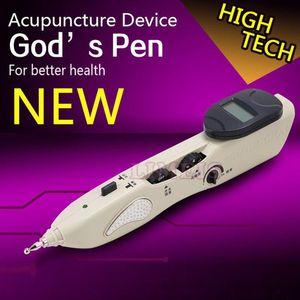 Venta caliente energía eléctrica punta de acupuntura meridiano masaje pluma automática meridan detector de diagnóstico acupuntura masajeador dispositivo de estimulación