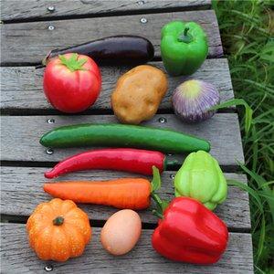 12 pcs / Kit Simulation Artificielle Faux Fruits Légumes De Mariage Ornements De Tir Props Enfants Enseignant Modèle Décor À La Maison