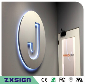 Factory Outlet Stainless steel backlit led signage for shop store sign company name logo restaurant front signages