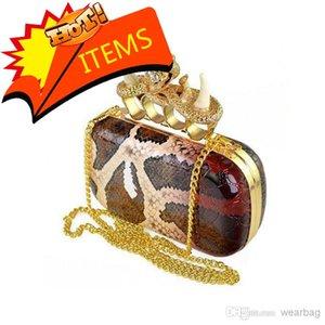 Bag SKULL - Shoulder BAG Free Colour Ivory Sale Grain Punk Sull Snake Knuckle Handbag Purse Shipping Women's Hot 2 Clutch Chgka