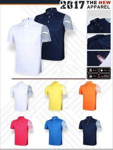2017 neue glof t-shirt sportbekleidung kurzarm trocken schnell sport shirts streifen mode