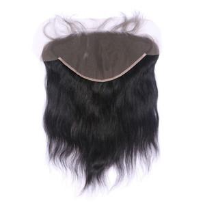 13x6 уха до уха Кружева Фронтальная Закрытие С отбеленные Сучки Natural Color 1B бразильский человека Реми волос
