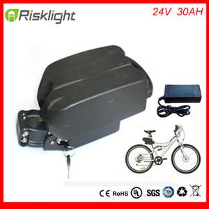 Rechargeable 24v 30Ah li batterie vélo électrique ionique pour ebike cas de grenouille de la batterie avec chargeur et bms