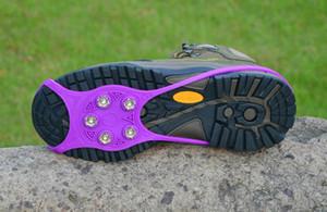 En Yeni Taşınabilir Katlama Kaymaz Ayakkabı Kapak Dağcılık Kramponlar Buz Kar Yürüyüş Güvenlik krampon Buz Yürüyüş Cleat Ücretsiz nakliye