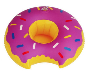 Donut Swimming drink cup holder Floating Inflatable Can Holder bottle holder cup holders bottle floats glass floats