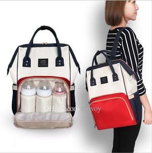 Мама рюкзак подгузники сумки мать по беременности и родам пеленки рюкзаки полоса мультфильм дорожные сумки организатор аутентичные Марка бесплатная DHL FEDEX MPB03