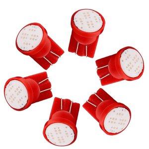 50pcs véhicule 194 T10 CW1 LED ampoules rouges 8K 1W 2825 W5W 168 Wedge Map