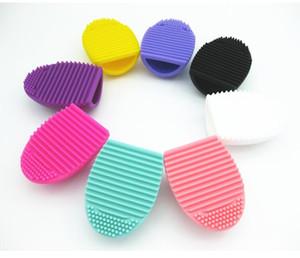 Spazzola dell'unghia Brushegg Silicone cosmetico Make Up Spazzola per la pulizia dello strumento Accessori per la cura Fabbrica diretta DHL all'ingrosso