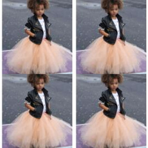 Günstige Tutu Tüll Röcke Kinder Formelle Kleidung Knöchel Länge Blumenmädchen Kleid Billig Nur Verkauf Röcke Bust Röcke Kommunion Kleider