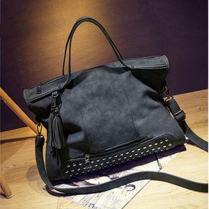 Новая мода кожа женщины сумка мода кисточкой сумка старинные сумка больше Топ Ручка сумки Мумия пакет