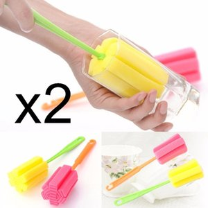Ferramenta prática Gadgets 2pcs Copa escova de limpeza Kitchen Sponge Escova Para Copo de Vinho Garrafa Coffe Tea Vidro Cup Caneca Hot Sale
