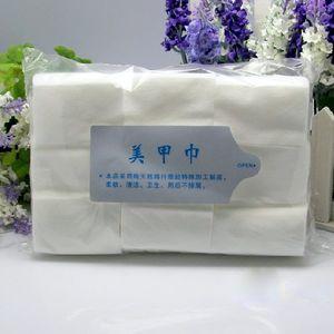 FREIES DHL Heißer Verkauf 900 teile / paket nageltücher Nail art Tipps Maniküre Politur Entferner Saubere Tücher Baumwolle Lint Pads Papier