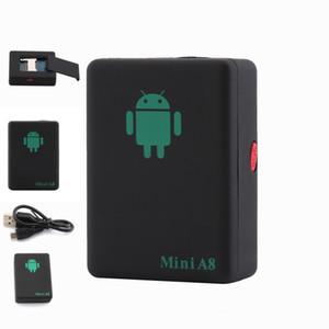 Localizzatore GPS Tracker Mini A8 GPRS in tempo reale GSM / GPRS / LBS con pulsante SOS per auto per bambini Pet monitoraggio dispositivo di monitoraggio adattatore di alimentazione