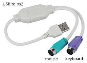 USB para PS2 PS / 2 cabo adaptador conversor teclado mouse acessórios de computador